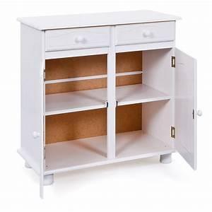 Bahut 2 Portes : bahut 2 portes 2 tiroirs alienor blanc ~ Teatrodelosmanantiales.com Idées de Décoration
