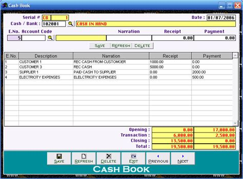 Cleantouch Easy Cashbook