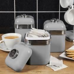 kitchen co storage jars swan 3pc retro tea coffee sugar kitchen storage canisters 8814