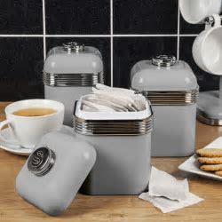 Swan 3pc Retro Tea Coffee Sugar Kitchen Storage Canisters
