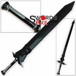 Sword Art Online Dark Repulser Kirito Kirigaya Kazuto - Black