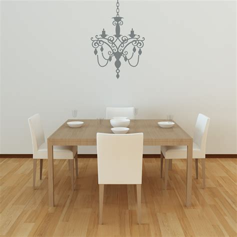 chandelier wall decal style 2