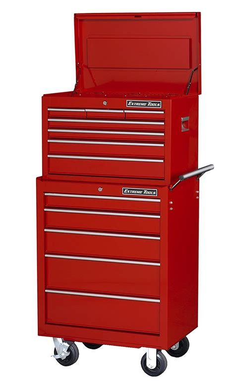 best deals on tool cabinets extreme tools 26ʺ 7 drawer top chest and 5 drawer roller