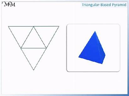 2d Based Shapes Pyramid Triangular Faces Four