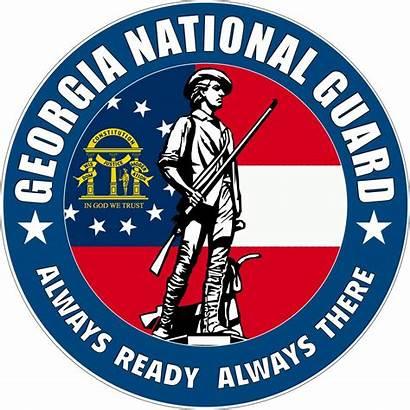 Guard National Georgia Army Ga Clipart Symbol