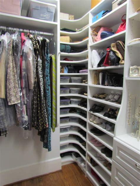 atlanta closet corner shoe shelves 01 traditional