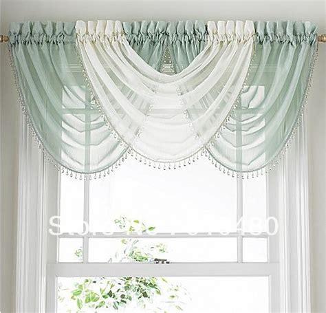 Waterfall Valance Curtain Set by Luxury Bead Sheer Curtain Valance Waterfall Curtain