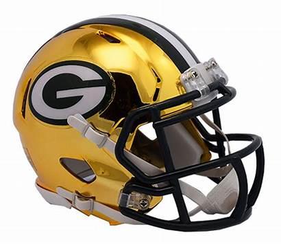 Packers Helmet Bay Nfl Football Chrome Mini