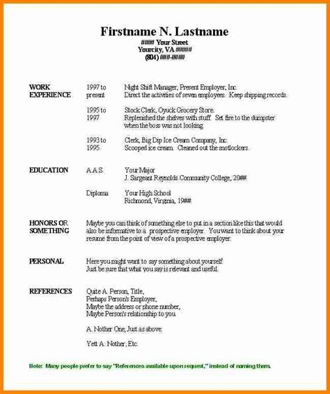 Free Resume Templates In Word by Basic Resume Template Word Letters Free Sle Letters