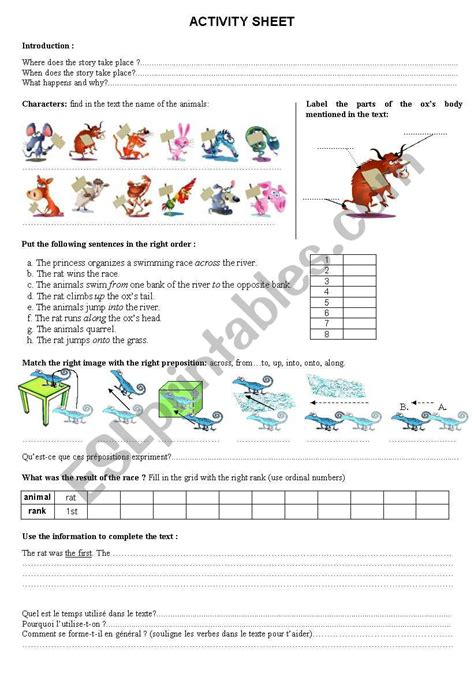 chinese zodiac legend worksheet esl worksheet by queensarah