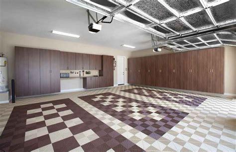 garage flooring ideas  options custom closet  garage