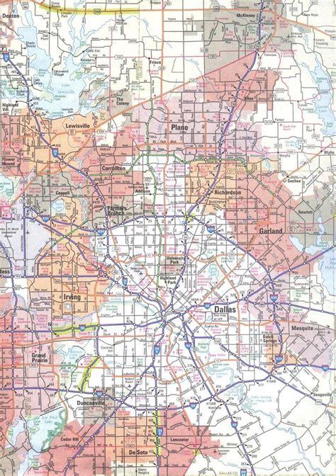 dallas tx map map  dallas texas area texas usa