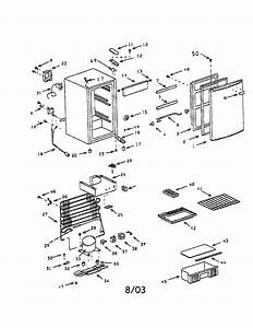 Compact Refrigerator Diagram  U0026 Parts List For Model