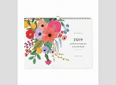 2019 Garden Party Appointment Wall Calendar by RIFLE PAPER