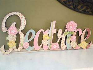 custom kids name sign nursery wall letters name sign With cursive wooden letters for nursery