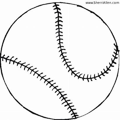 Coloring Pages Baseball Sherriallen Printable Getcoloringpages
