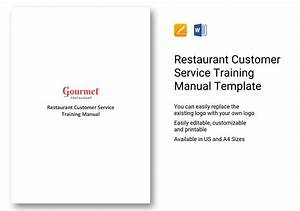 Restaurant Customer Service Training Manual Template In