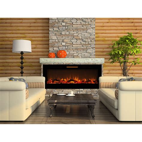 Elite Flame 60 Inch Fusion Log Built In Smokeless Wall