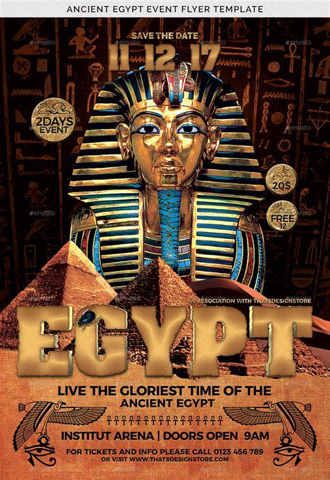 ancient egypt event flyer template  lou graphicriver