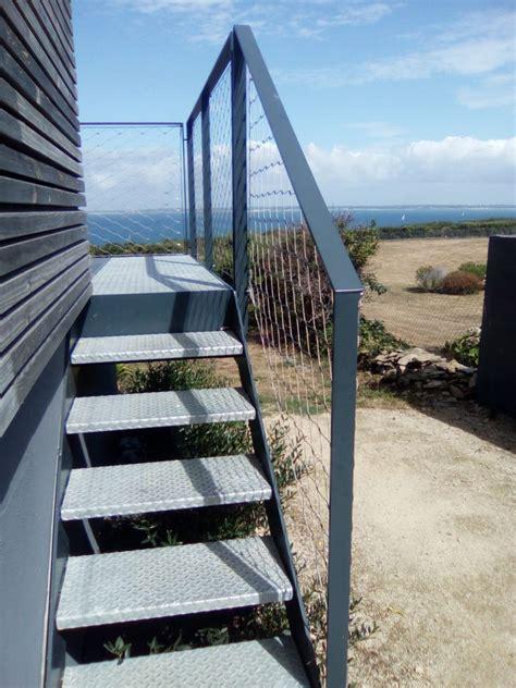 escalier_exterieur_galva_groix (3) | Steel Contemporain