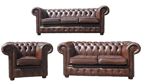 3 2 1 Sofa Set by Chesterfield 3 2 1 Leather Sofa Offer Antique Brown