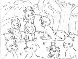 No Ordinary Wolf Pack - Sketch by Blue-Radiance on DeviantArt