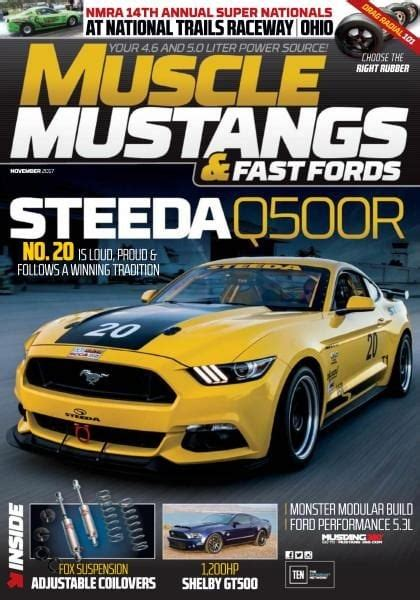 muscle mustangs fast fords november