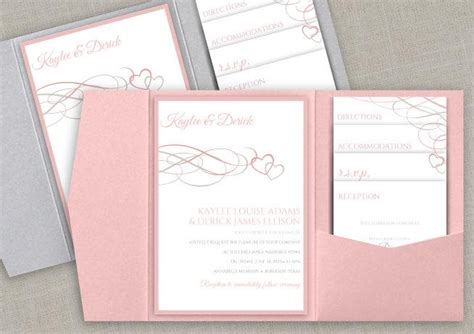 diy pocket wedding invitation set instant download