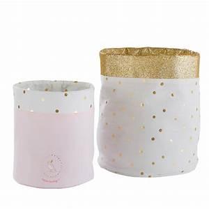 Panier Rangement Bébé Tissu : 2 paniers de rangement en coton imprim bird song ~ Dailycaller-alerts.com Idées de Décoration