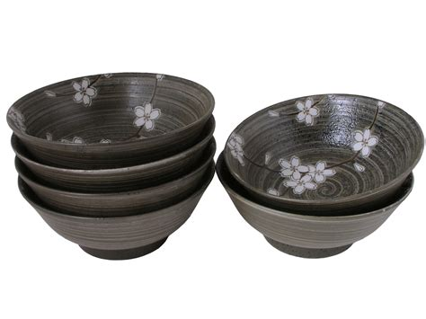 canisters for the kitchen forest cherry blossoms collection ramen bowl set