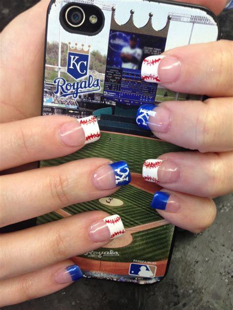 kc royals nails p nail designs pinterest cas
