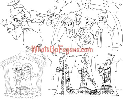 nativity coloring pages 12 free printable nativity coloring pages for
