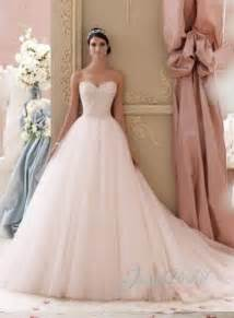 colored wedding dresses jol229 2015 blush pink colored sweetheart tulle princess gown wedding dress 2195814 weddbook