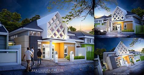 rumah satu lantai  wakatobi desain modern maksimalis