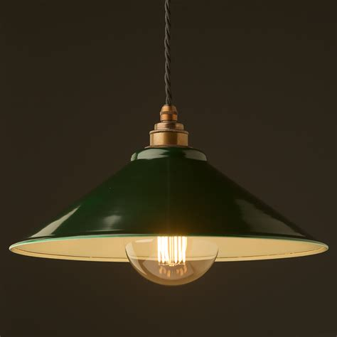 green steel light shade 310mm pendant