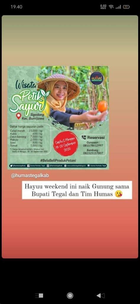 tempat wisata kabupaten tegal posts facebook