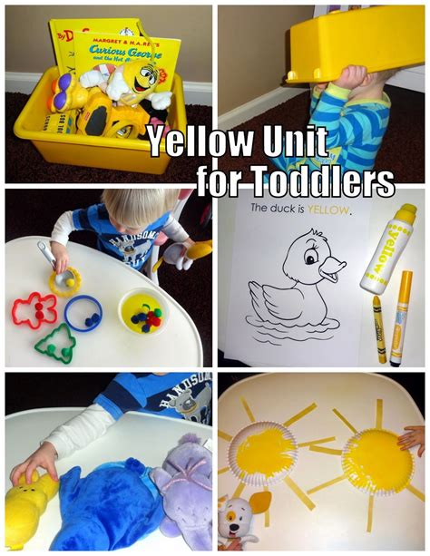 yellow unit for toddlers activities for toddlers 858 | ec28b93b4ddd52f84b7d641965a75675