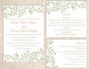 diy wedding invitation template set editable word file With diy wedding invitations in word