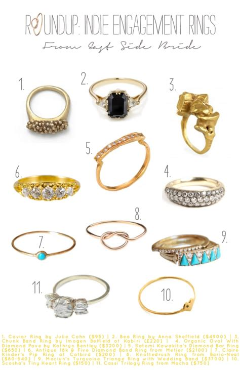 Roundup Indie Engagement Rings From East Side Bride. Mismatched Wedding Rings. Edwardian Rings. Edgy Wedding Rings. India Mens Wedding Rings. 2 Million Dollar Wedding Rings. Personalized Engagement Rings. Moon Rock Engagement Rings. Weedding Wedding Rings