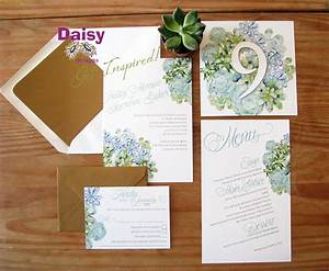 succulents wedding invitations by daisy designs With wedding invitations with succulents