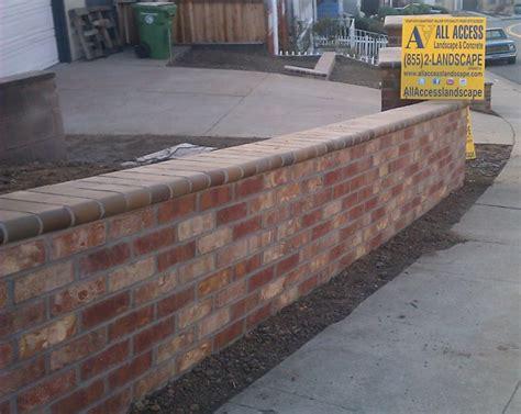 brick retaining wall oakland ca retaining wall thin brick mcnear all access constructionall access construction