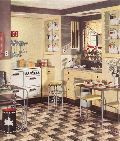 retro kitchen flooring 1930s kitchens photos 1936