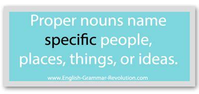 common nouns  proper nouns