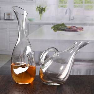 Wholesale, 1730ml, Cheap, Clear, Oblique, Mouth, Wine, Decanter, Set, With, Handle