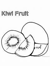 Coloring Kiwi Pages Colouring Kiwis Popular Fruit Gaddynippercrayons sketch template