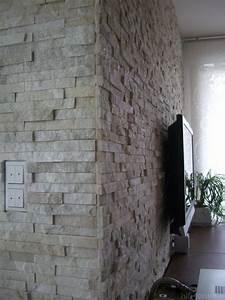 Naturstein Wandverkleidung Wohnzimmer : wandverkleidung naturstein verlegen ~ Michelbontemps.com Haus und Dekorationen