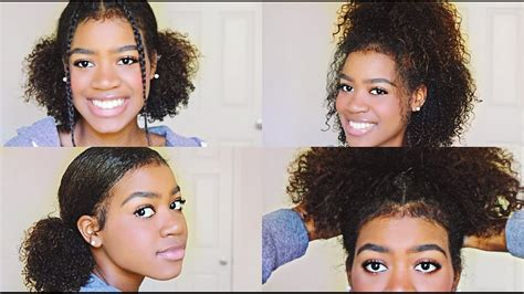 4 Easy And Cute Hairstyles For Medium Length Curly Hair