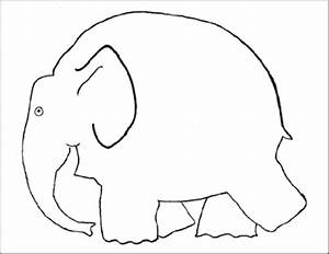 Template for elmer the elephant painting craft preschool for Elephant template for preschool