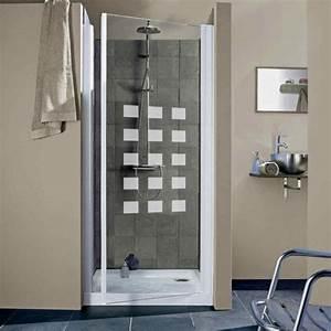 comment choisir sa porte et sa paroi de douche leroy With porte de douche coulissante avec carrelage couleur salle de bain