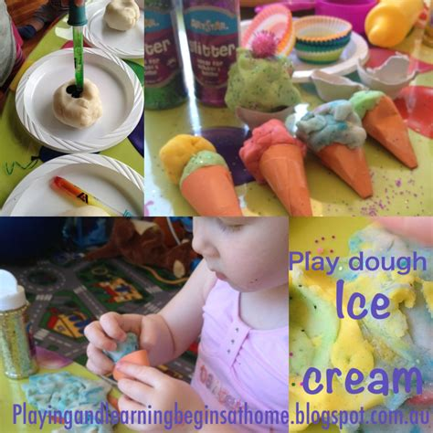 Playing And Learning Begins At Home Playdough Ice Cream Fun